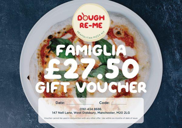 Pizza kit vouchers, Dough-Re-Me